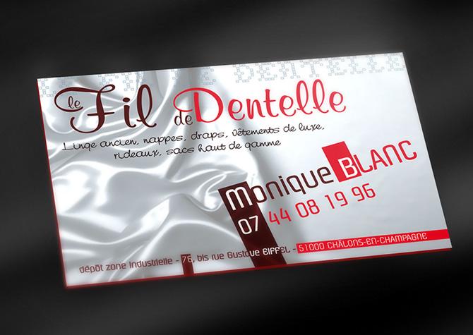 Design Et Impression De Cartes Visite Le Fil Dentelle