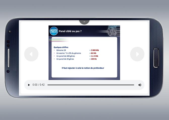 Application de slides pour Boehringer Ingelheim - Version mobile