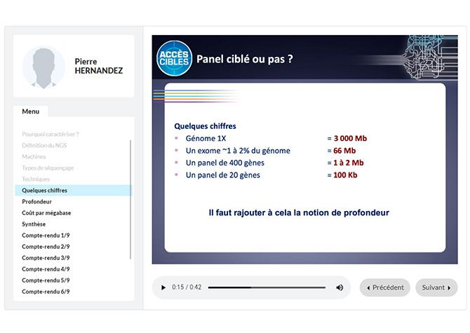 Application de slides pour Boehringer Ingelheim - Version web