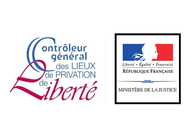 Logo du CGLPL et du ministère de la justice