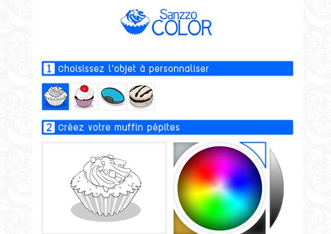 App Sanzzo Color - Home