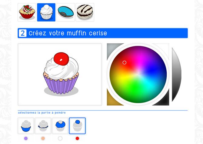 App Sanzzo Color - Muffin cerise