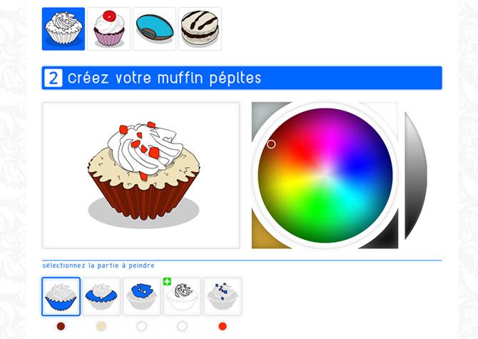 App Sanzzo Color - Muffin pépites